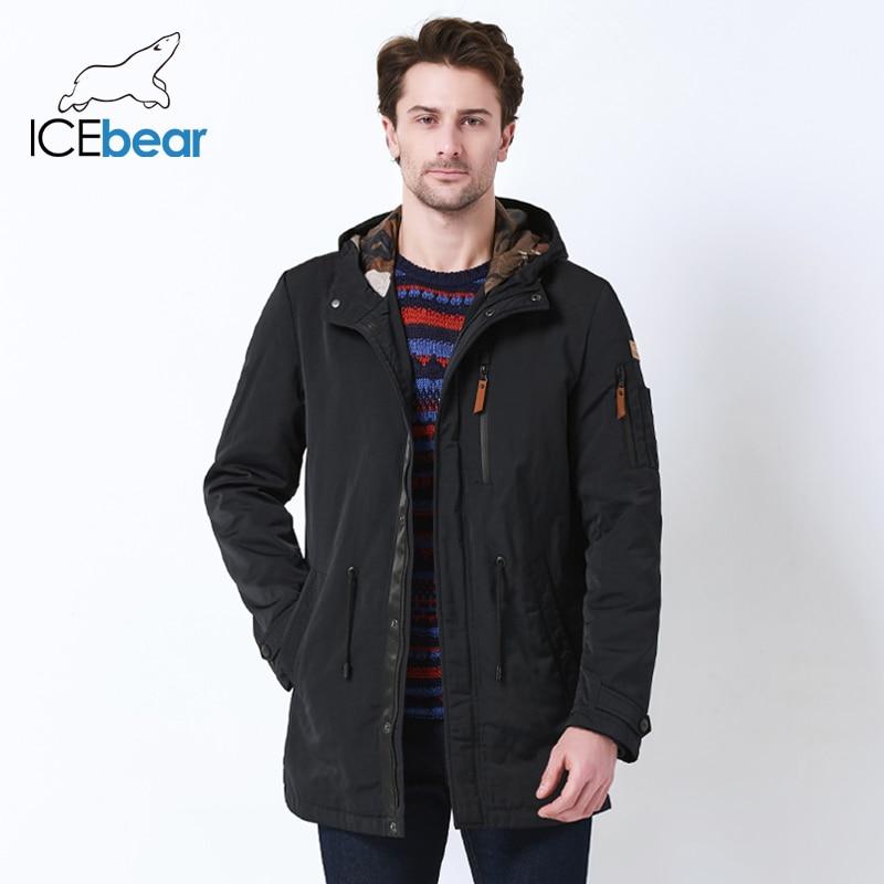 ICEbear 2019 trench e Impermeabili Cappotto Per Gli Uomini Cappello Staccabile Uomini di Autunno Nuovo casual Medio Lungo Cappotti di Marca di 17MC017D-in Trench da Abbigliamento da uomo su  Gruppo 3