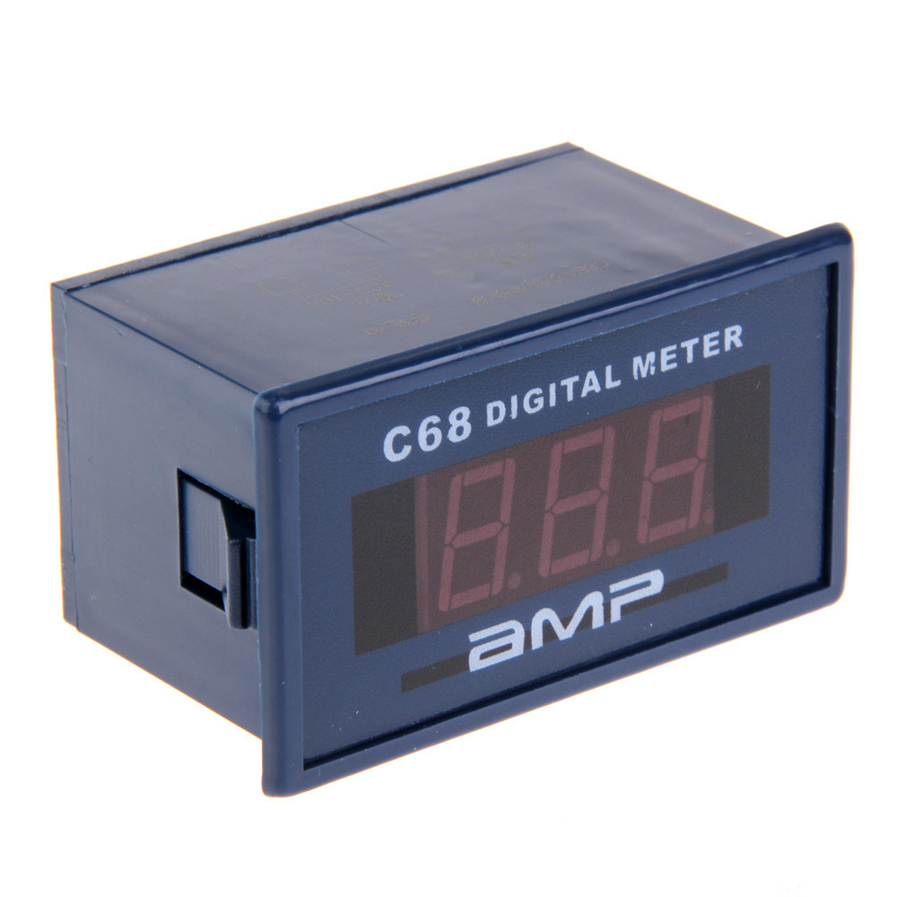 C68A Three digits 0.56 AC 0-10A Ammeter Meter AMP Red LED Digital Display Amperemeter ...
