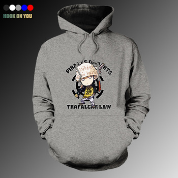 2017 Fashion Anime One Piece Men Trafalgar Law Pullover Hoodie Casual Fleeces Lovely Death Surgeon Print Sweatshirt Cool Clothes