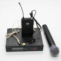 Uhfプロslx24/slx14/beta58ワイヤレスマイクシステム+ハンドヘルド+ラペル+ヘッドセットマイク用ステージ