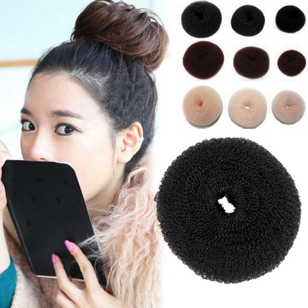 1 Pcs Magic Lady Sponge Donut Bun Maker Hair Styling Tool Soft Hair Styler Shaper Hair Rollers For Women Lady Styling Tool FM88 fashion women bun maker hair accessories hairstyle dish twist donuts bud head ball ladies sweet girls hair rollers diy tool hb88