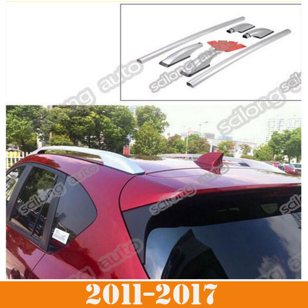 Top Roof Side Rails Rack Cargo Luggage Silver Aluminium Fit for Mazda 5
