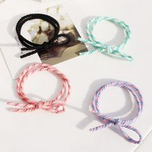 Hair Accessories Bow Elastic Rubber Bands Headwear Girl Elastic Hair Band Ponytail Holder Scrunchy Rope Hair Styling Tools girl hair bow knot ribbon scrunchy elegant hair accessories for women for hair elastic bands new arrival headwear hairband
