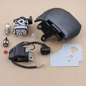 Vergaser Luftfilter Abdeckung Kit Für Honda GX25/GX25N/GX25NT Motor Motor Trimmer Zündspule Dichtung Zündkerze überprüfen Ventil
