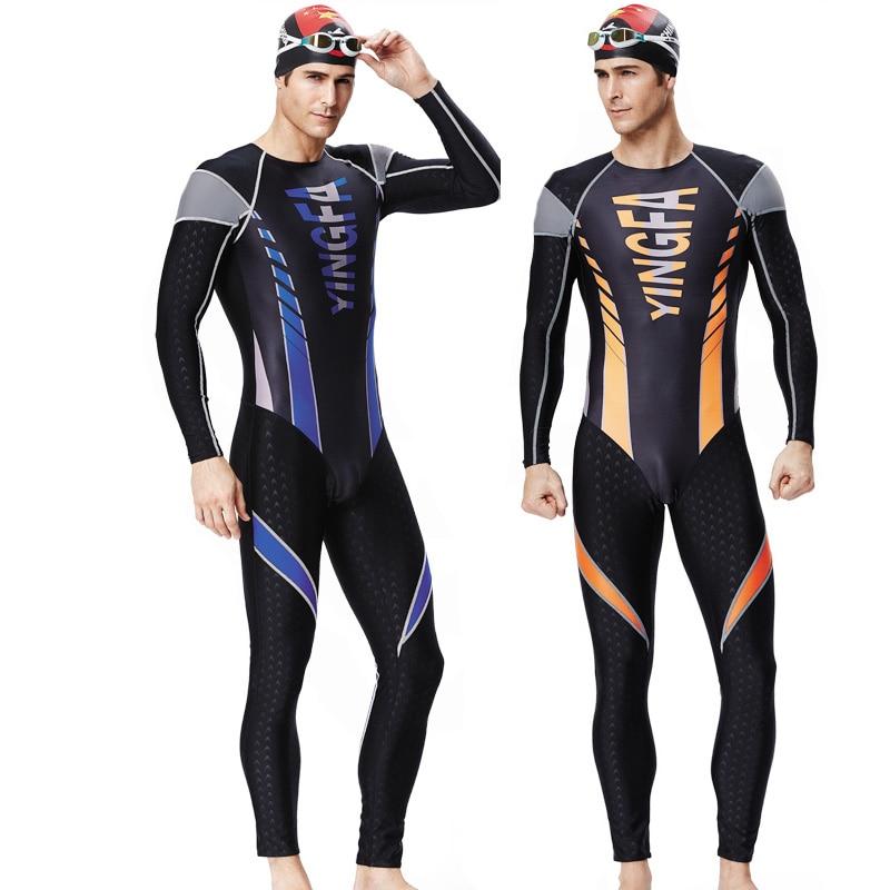 YINGFA Fina approved two piece training competition swimwear men waterproof sharkskin Whole body sunscreen bodysuit nobrand соревновательная 20х30м рекомендовано fina для мужчин