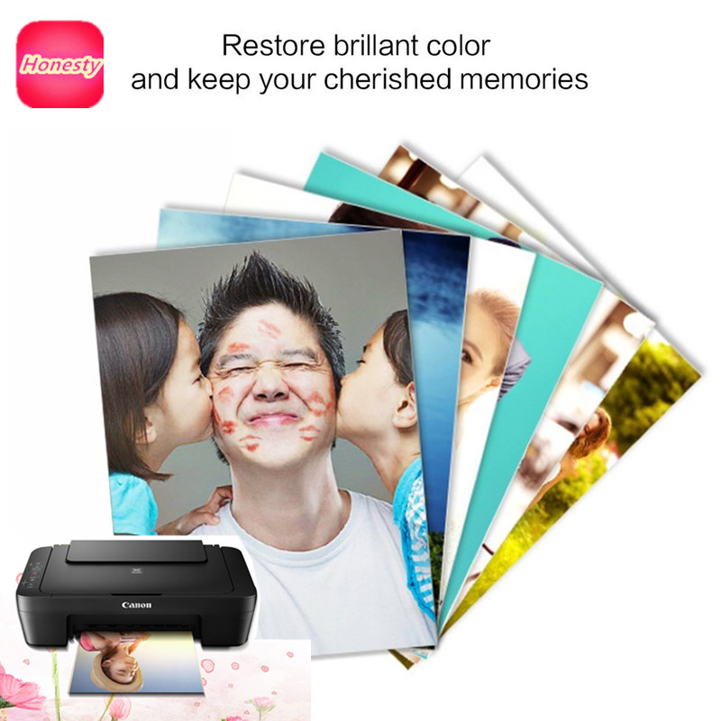 "Printer Photo Paper 3R 4R(4""x6"") 5R A5 Photographic Paper for <font><b>Inkjet</b></font> Printer 4R Glossy Printing Paper Office Supplies 20 sheets"