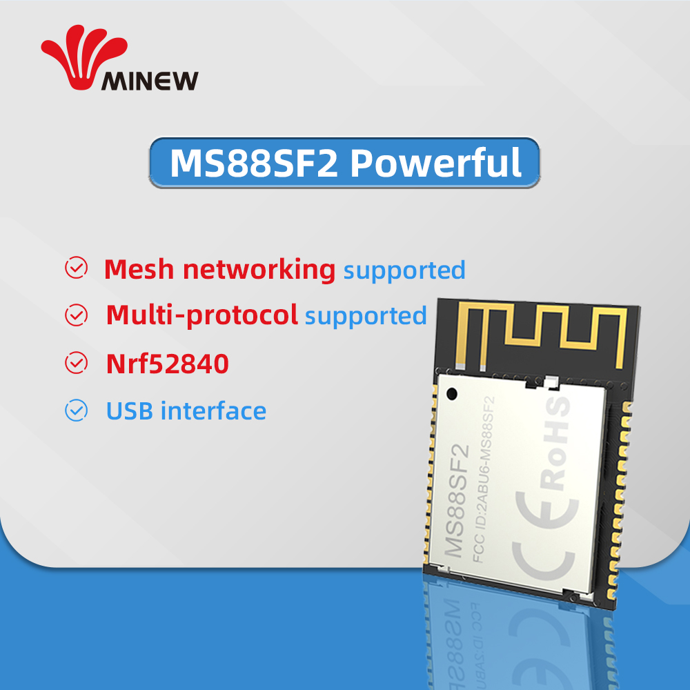 Mesh Nrf52840 Module Uhf Wireless Data 2.4 Ghz Receiver Transmitter Uart Long Range Transmitters MS88SF2 Ble 5.0 Module