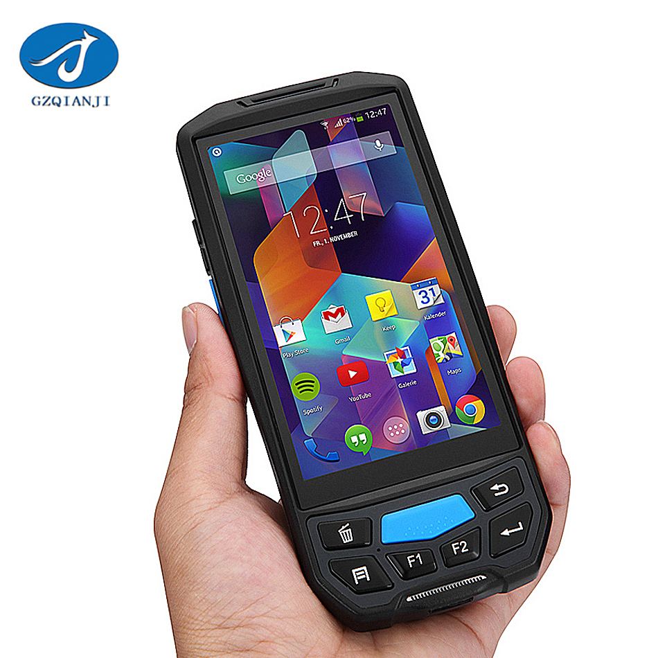 PDA RFID Reader uhf rfid reader handheld rugged android phone with nfc Android 2D Barcode Scanner PDA Wireless Barcode Scanner bluetooth wireless 2d barcode reader handheld barcode scanner usb 10m red light for mobile phone computer
