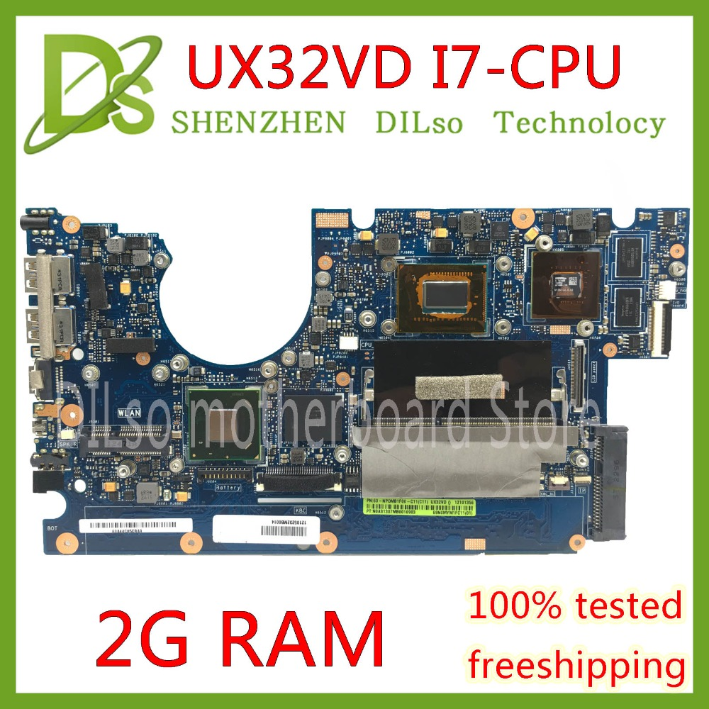 KEFU UX32VD motherboard for ASUS UX32V UX32VD laptop motherboard I7 CPU GT620M 2GB RAM original Test motherboard mainboard hot sale fashion sea wave watch women watches fabric strap ladies watch quartz clock lady hour montre femme relogio feminino page
