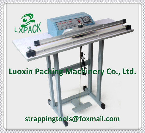 LX-PACK Foot Pedal HF (Hands Free) 14'' 18' 26'' Sealers single sided double sided heat HF sealer always hot HF sealer lx pack lowest factory price 350mm foot sealer machine foot type constant heat sealer single sided sealing double sided sealing