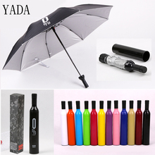 YADA New Custom Folding Wine Bottle Umbrella Rain Creative UV Mini For Womens Friendship Designer Gifts Umbrellas YS371
