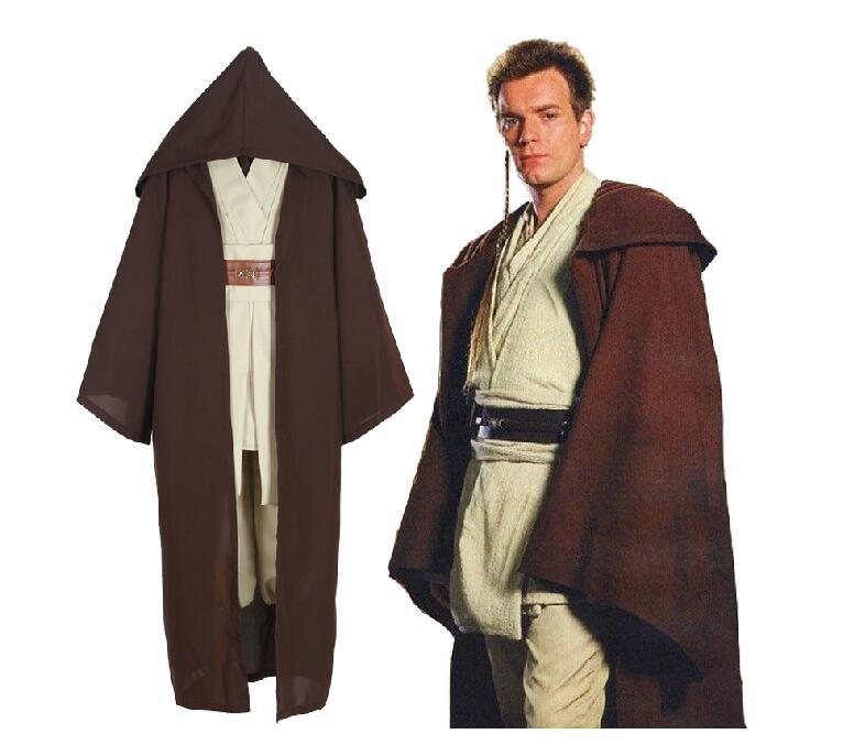 Star Wars Men Adult Jedi Knight Robe Galaxy Suit Cloak Cape Cosplay Costume Gift