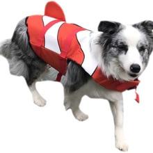Pet Dog Life Jacket Safety Vest Life save Suit Mermaid Shark Design Dog Swimming Protect Pets Summer Clothes