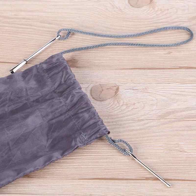 2 uds. De acero inoxidable citados Clips cinturón elástico con cuerda herramienta para tejer bolsa envoltura cuerda con accesorios de costura