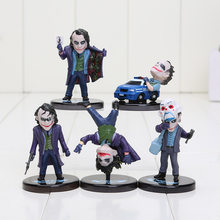 5 pçs/lote Superheroes The Joker Batman O Cavaleiro Das Trevas PVC Action Figure Model Collection Toy Dolls Keychain Presentes(China)