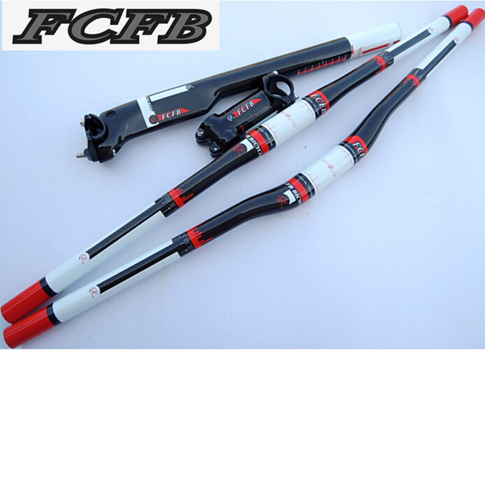 Specials! FCFB FW white red carbon fibre mountain handlebar set Stem Carbon seatpost handlebar road bike free shipping free shipping 2016 united states fcfb fw green blue silver red carbon seatpost road mtb bike carbon seat post