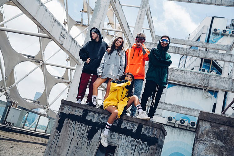 Aolamegs Hoodies Men Side Striped Hood High Street Pullover Cotton Fashion Hip Hop Streetwear Casual Big Pocket Hoodie Autumn (4)