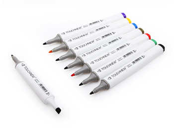 TOUCHNEW 60/80 Color Dual Head Art Marker Set Alcohol Sketch Markers Pen for Artist Drawing Manga Design Art Supplier