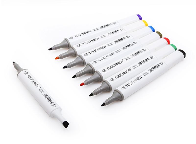 TOUCHNEW 60/80 couleur double tête Art marqueur Set alcool croquis marqueurs stylo pour artiste dessin Manga Design Art fournisseur - 4
