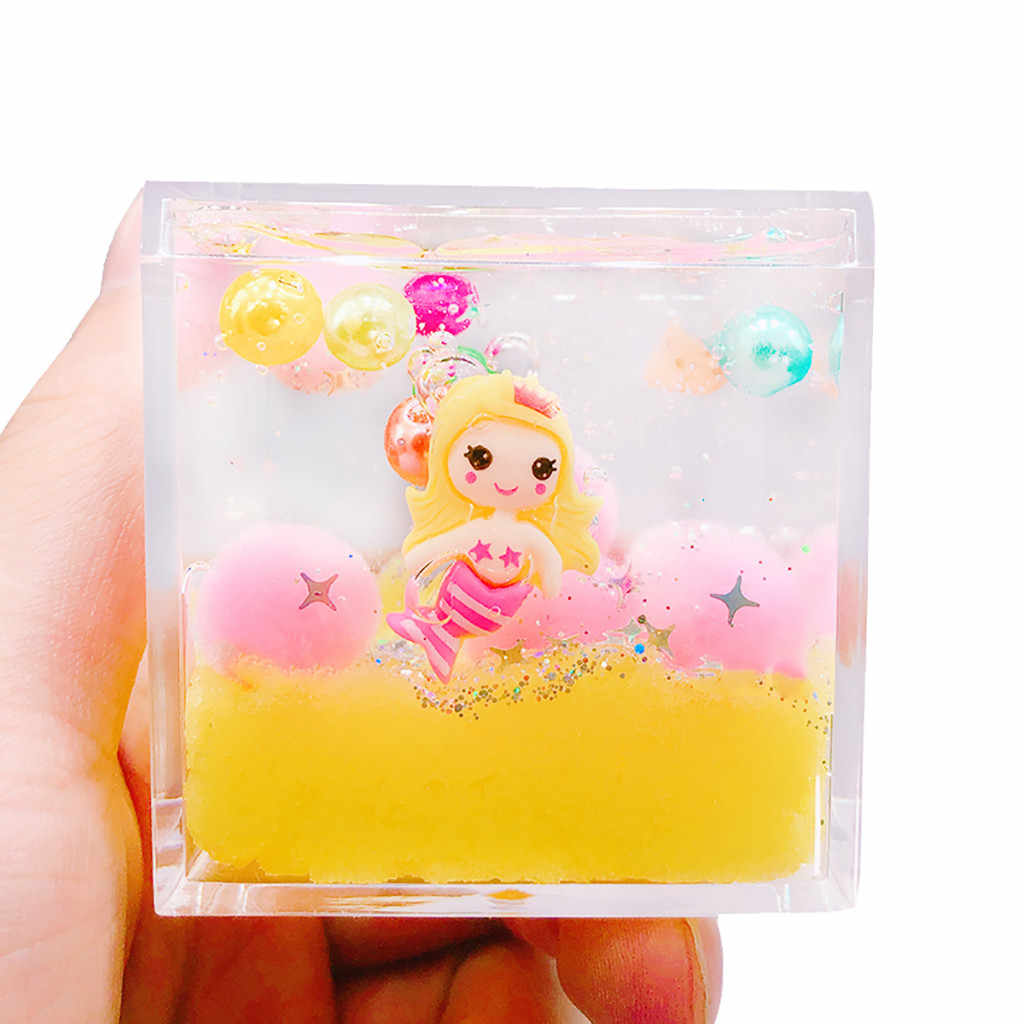 120ml DIY Mermaid Mud Mixing Cloud Slime Putty Scented Stress Kids Clay Toy high quality hot sale 2019