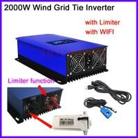 2000W Wind Power Grid Tie Inverter with Dump Load Resistor 45 90V ac to 220V 230V 240V AC MPPT Pure Sine Wave Grid Tie Inverter