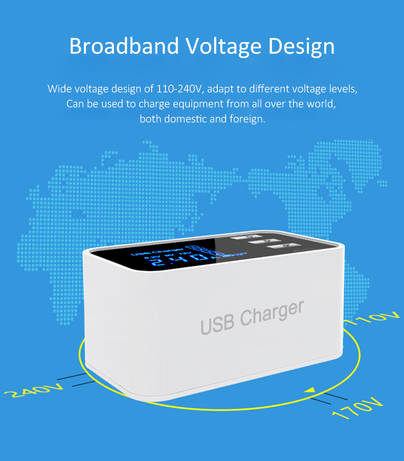 Quick Charge 2.0 Smart Type C USB Charger HUB Station (7)