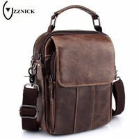 ZZNICK Fashion Brand 2018 New Men's Genuine Leather Business Bag Male Shoulder Crossboby Bags High Quality Handbags For Men