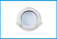 196mm Marine Boat Yacht RV Porthole ABS Plastic Round Hatches Port Lights Replacement Windows Port Hole Opening Portlight