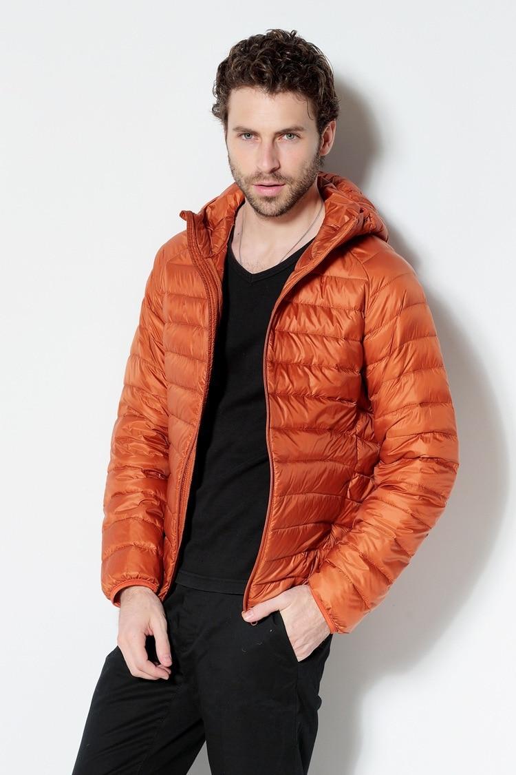 Men White Duck Down Jacket 2020 New Portable Hooded Down Coat Ultralight Men Winter Coat Warm Thermal Down Parkas 11