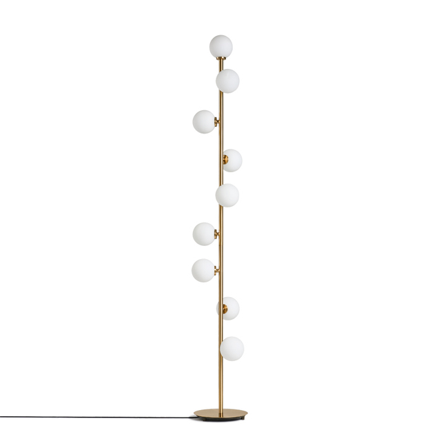 Modern Floor Lamp Creative Led Light Grape Gold Color 9 Head Standing Mushroom Livingroom Bedroom Two Year Guaranteed