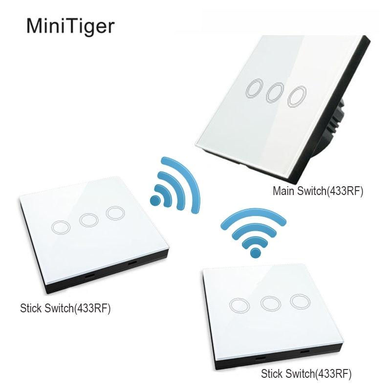 MiniTiger EU Standard แก้วคริสตัลสวิทช์ Touch Switch ปกติ 3 & 3 Gang Stick Touch Switch-ใน สวิตช์ จาก ไฟและระบบไฟ บน AliExpress - 11.11_สิบเอ็ด สิบเอ็ดวันคนโสด 1
