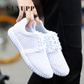 KUYUPP Breathable 90 Women Casual Shoes Unisex Trainers 2017 Summer Air Mesh Low Top Shoes Women Zapatillas Deportivas ZD10
