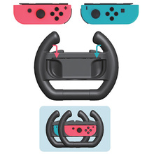 2pcs ABS Steering Wheel Handle Stand Holder for Nintendo Nintend Switch Left Right Joy-Con Joycon NS NX Controller Game 2pcs left right joystick joy con handle grip hand holder steering wheel for nintendo nintend switch joy con ns nx controller