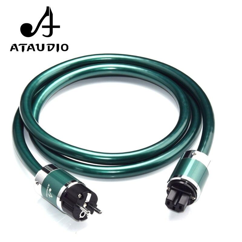 ATAUDIO Hifi Power Cable With European Power Plug High Purity OCC Power Cord for AC Power