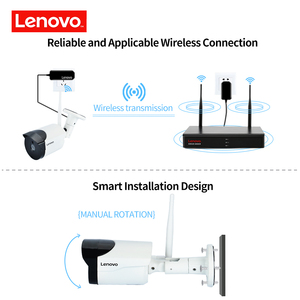 Image 2 - LENOVO 6CH Array HD Wireless Security Camera System DVR Kit 960P WiFi camera Outdoor HD NVR night vision Surveillance camera