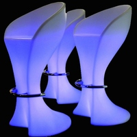 16 Colors Changing Lighting Led Bar Chair Illuminous Glowing Coffee Bar Stool For Party Event SK