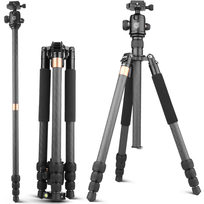 Q999BC 10kg load foot nail special crossed carbon fiber camera tripod for dslr digital video professional 2 in 1 tripod monopod ashanks professional aluminum camera tripod mini portable monopod with ball head for dslr photography video studio load 10kg