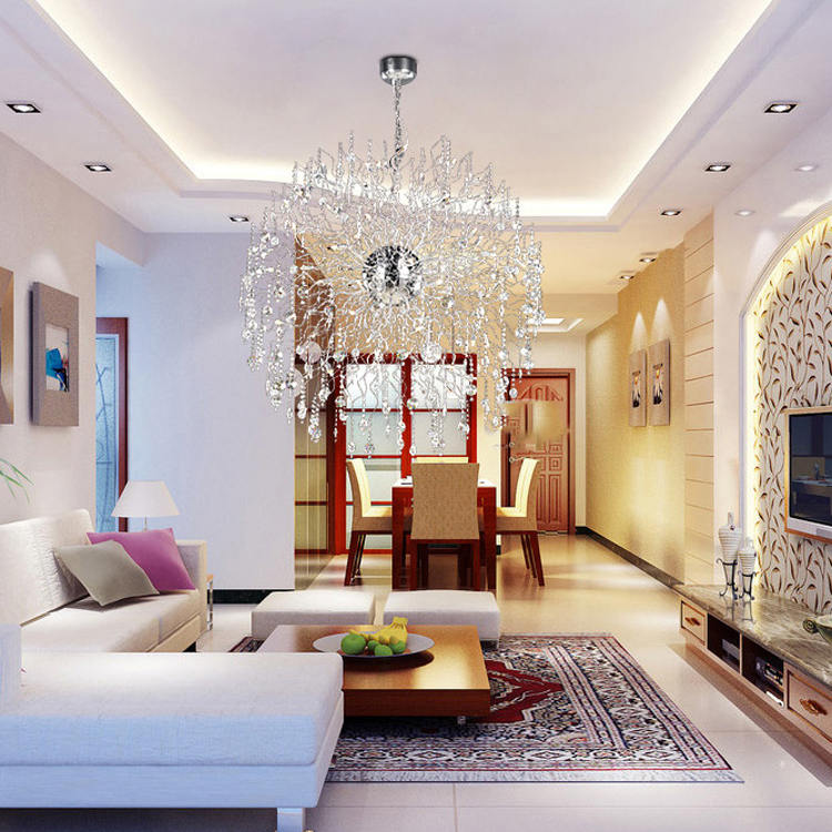 Modern Crystal Chandelier Lighting Orb Cristal Chandeliers Light ...