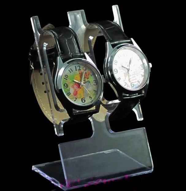 524f2afefcc 10 pcs limpar - ver casal assista Display Stand titular rack Talbetop  decoração o relógio casal