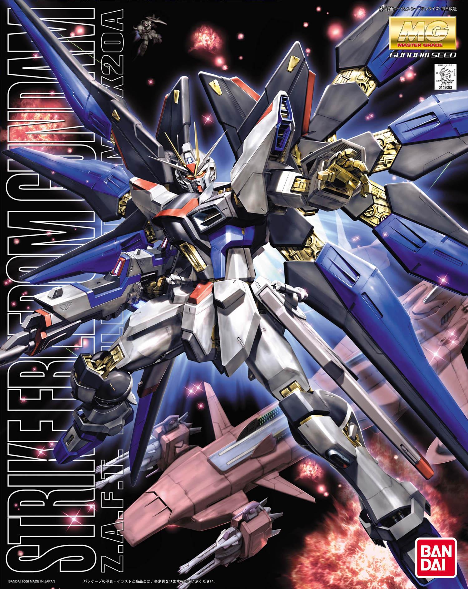 Bandai Gundam MG 1/100 STRIKE VRIJHEID Mobiele Pak Monteren Model Kits Actiefiguren Plastic Model Speelgoed-in Actie- & Speelgoedfiguren van Speelgoed & Hobbies op  Groep 1