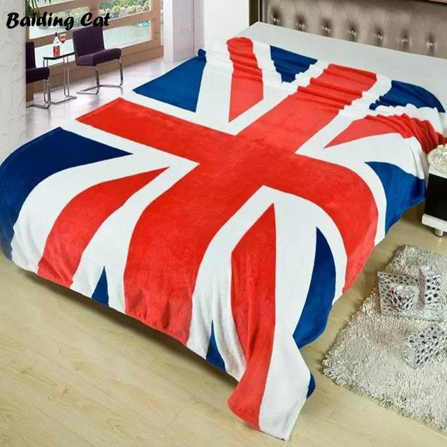 New Union Jack British UK Flag Blanket US Flag Blankets Plush Fleece Extraordinary Plush Throw Blanket Canada