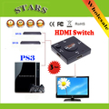 Mini 3 Port HDMI Switch Switcher HDMI Splitter 3 in 1 out HDMI Port for HDTV 1080P Video,Wholesale Free Shipping + Drop Shipping