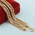 9MM Southeast Middle East Yellow Gold/Champagne Gold Plated Link Curb Chains Big Necklace Hip Hope Chunky Jewelry Customize