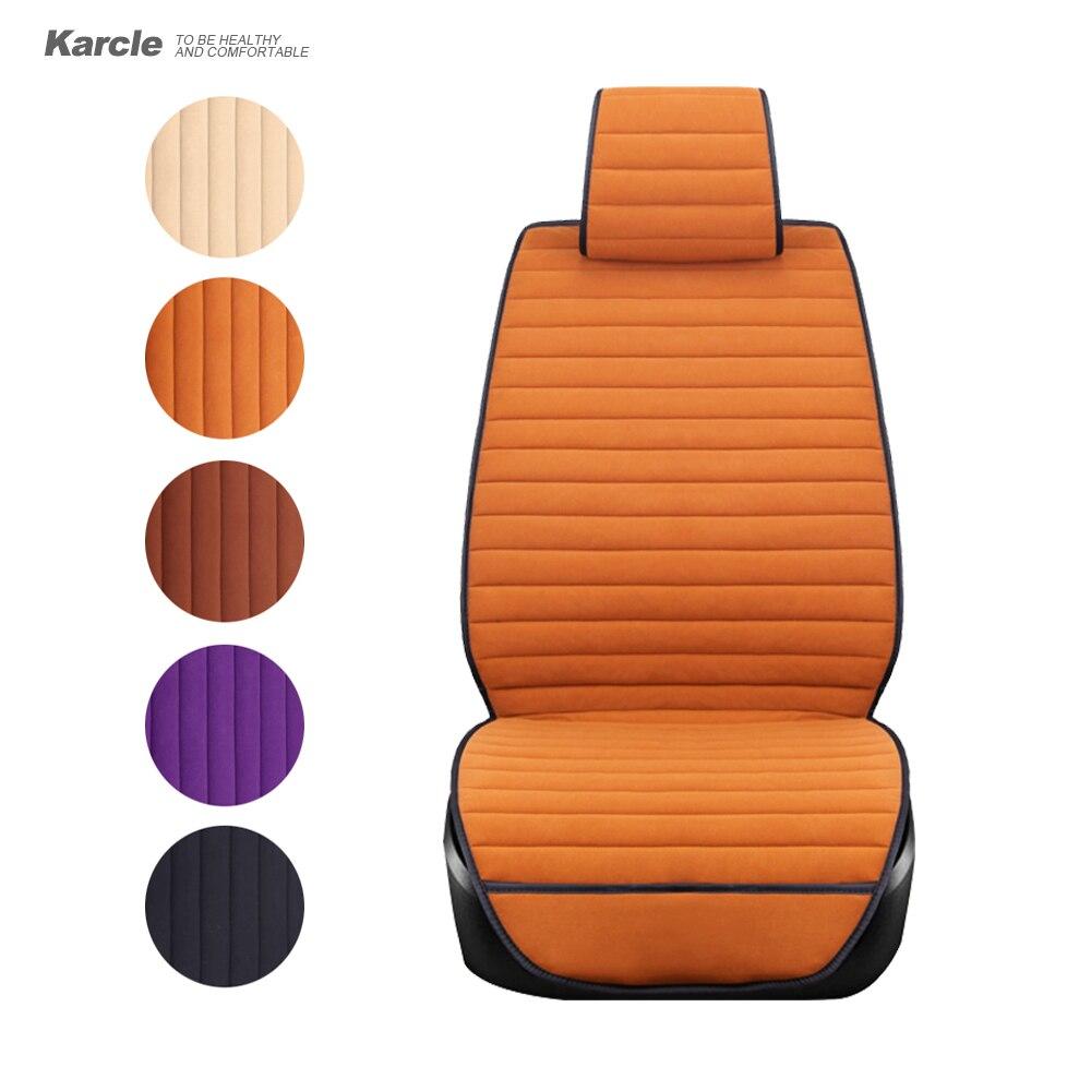 karcle universal plush car seat covers 1pcs velvet auto seat protector vehicles seat cushion. Black Bedroom Furniture Sets. Home Design Ideas