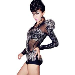 Image 3 - Новый костюм Стразы для джазовых представлений, модное высококачественное танцевальное платье, платья для выступлений, одежда для ночного клуба