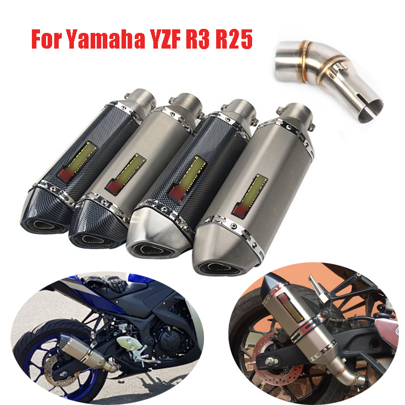 Slip On R3 Motorcycle Exhaust Muffler Header Link Connect Pipe For Yamaha R3 R25