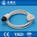 Free Shipping for 6Pin Din style 3-Lead ECG Extension cable fit for Din style leadwires,AHA/IEC,1k resistance