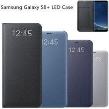Оригинальный светодиодный посмотреть смарт бумажник телефон обложка case ef-ng955 для samsung galaxy s8 + plus/s8 с функцией сна, карманные карты
