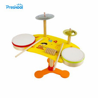 Montessori Baby Kids Toys Wooden Colorful Drum Musical Instrument Learning Educational Preschool Training Brinqudoes Juguets