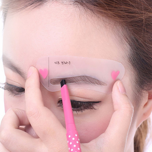 3PCS/SET New Magic Shaping Grooming Eyebrow Drawing Guide Eyebrow Stencil Card Template Assistant Toold Hot Sale 1